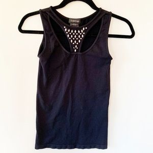 bebe Fitted Sleeveless Top